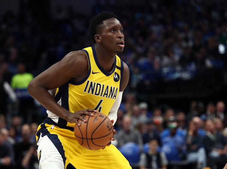 Victor Oladipo plays basketball