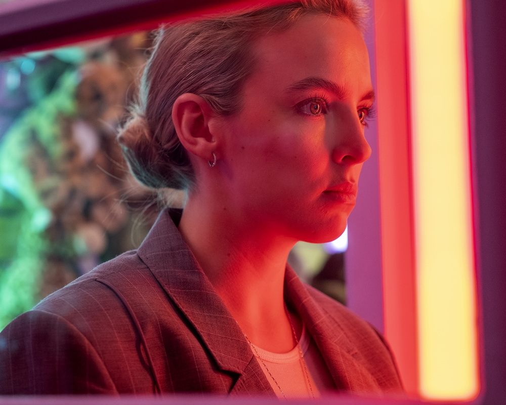 Jodie Comer in the role of Villanelle on Season 3 of 'Killing Eve'