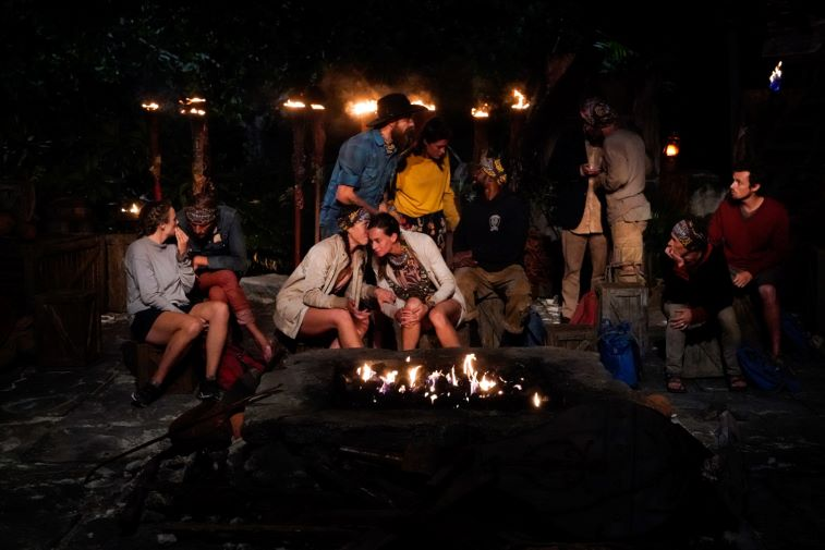 Tribal council castaways whispering