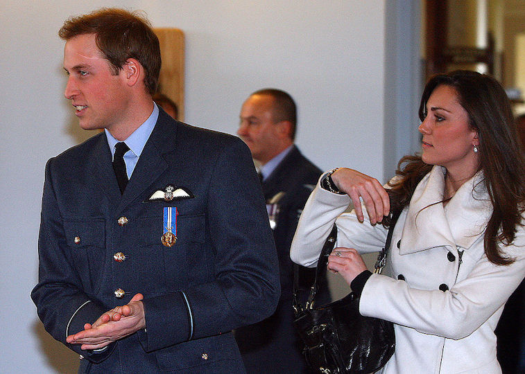 Kate Middleton attends Prince William's graduation ceremony at RAF Cranwell in 2008
