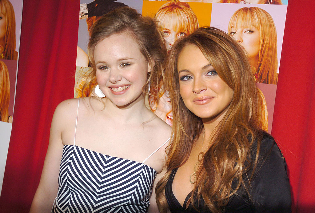 Alison Pill and Lindsay Lohan at the 'Confessions of A Teenage Drama Queen' New York Premiere