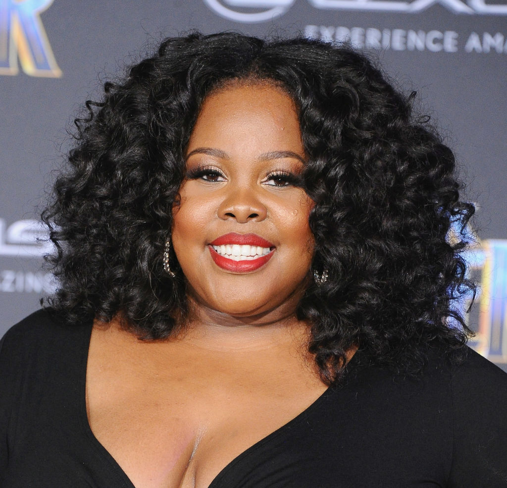 Amber Riley attends the Los Angeles Premiere 'Black Panther' on January 29, 2018