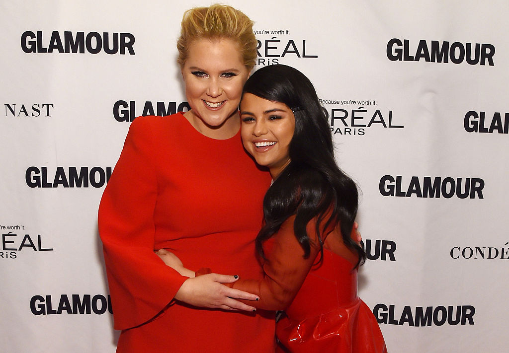 Amy Schumer and Selena Gomez attend 2015 Glamour Women Of The Year Awards on November 9, 2015 in New York City.