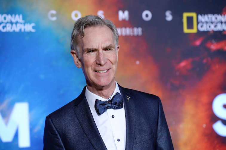 Bill Nye on the red carpet