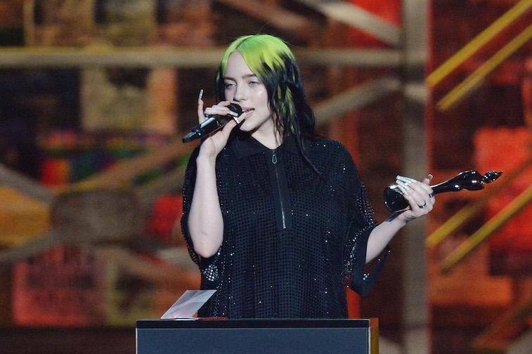 Billie Eilish performs onstage