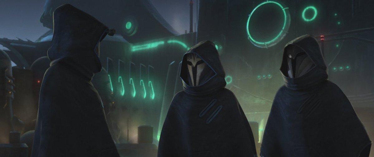 Bo-Katan and fellow Mandalorians discuss what to do about Ahsoka.