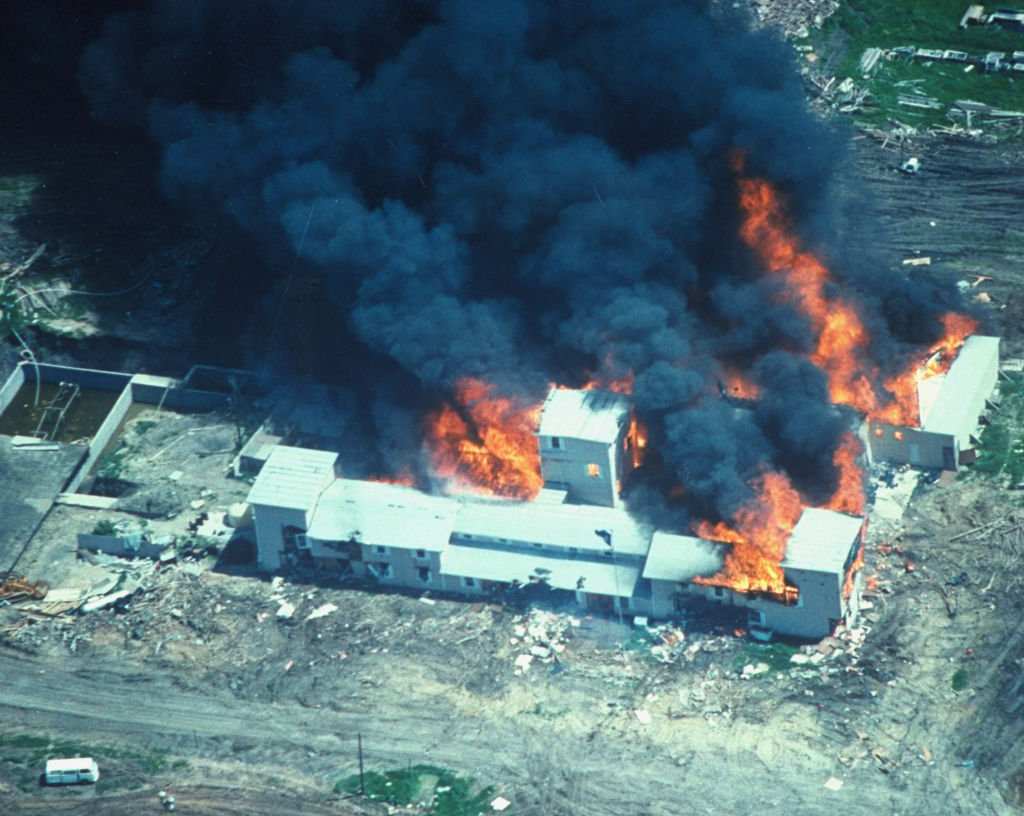 The fire at the Branch Davidian compound