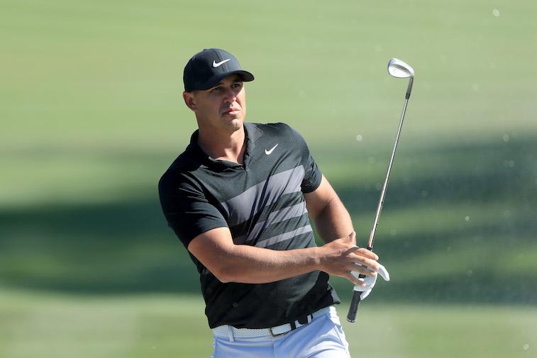 Brooks Koepa playing golf
