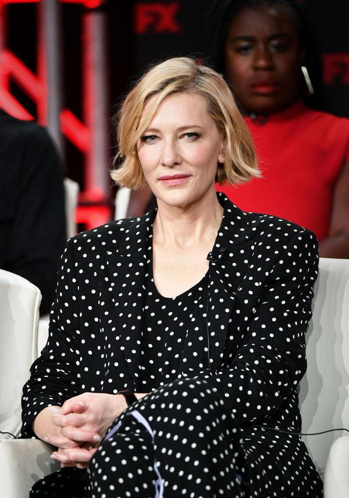 Cate Blanchett of Mrs. America at the 2020 Winter TCA Tour