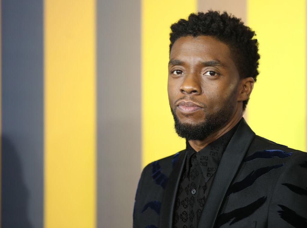 Chadwick Boseman in a suit