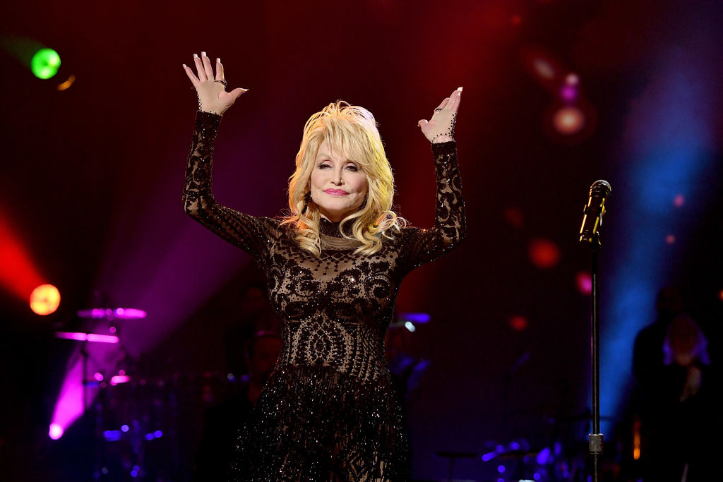Honoree Dolly Parton performs onstage during MusiCares Person of the Year honoring Dolly Parton at Los Angeles Convention Center on February 8, 2019.