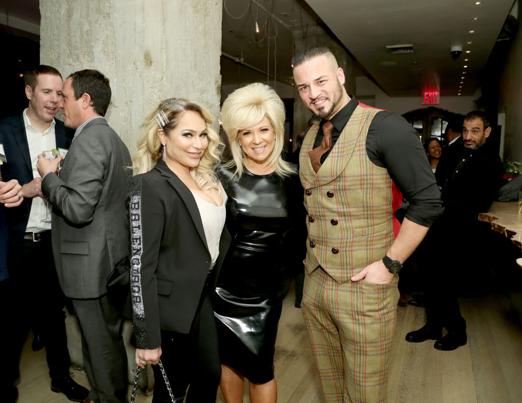 Darcey Silva of 90 Day Fiancé poses with Theresa Caputo and Justin Fornal