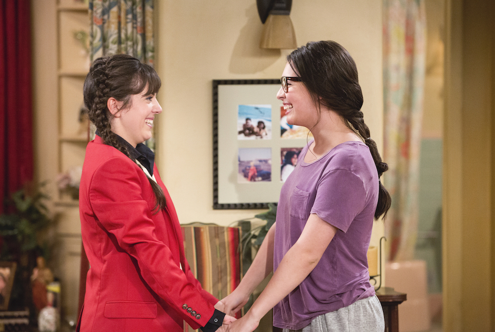 Elena and Syd (Sheridan Pierce) on 'One Day At A Time.'