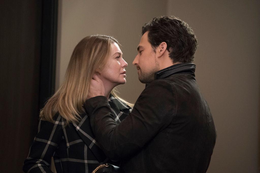Ellen Pompeo and Giacomo Gianniotti in 'Grey's Anatomy'