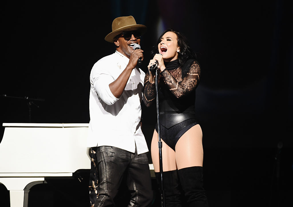 Jamie Foxx and Demi Lovato perform on July 8, 2016 in New York City