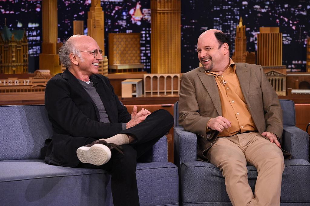 Larry David and Jason Alexander of Seinfeld