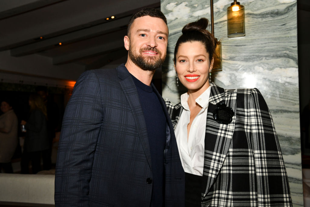 """(L-R) Justin Timberlake and Jessica Biel at the premiere of USA Network's """"The Sinner"""" Season 3 on February 03, 2020"""