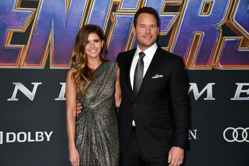 Katherine Schwarzenegger and Chris Pratt attend the World Premiere of 'Avengers: Endgame' on April 22, 2019