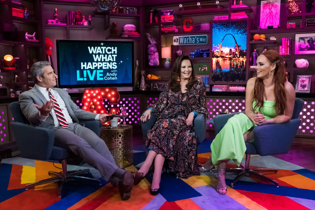 Andy Cohen, Patricia Altschul, and Kathryn Dennis