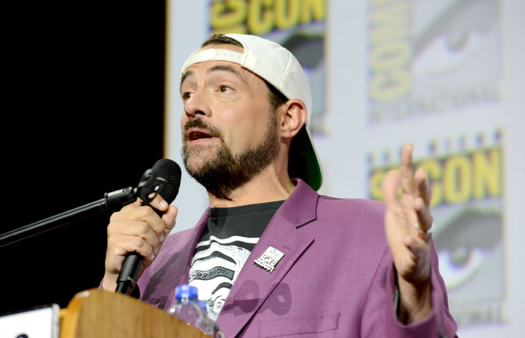 Kevin Smith speaks during 2019 Comic-Con International on July 20, 2019 in San Diego, California.