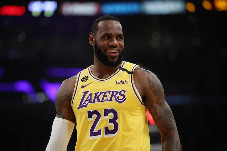 LeBron James playing basketball