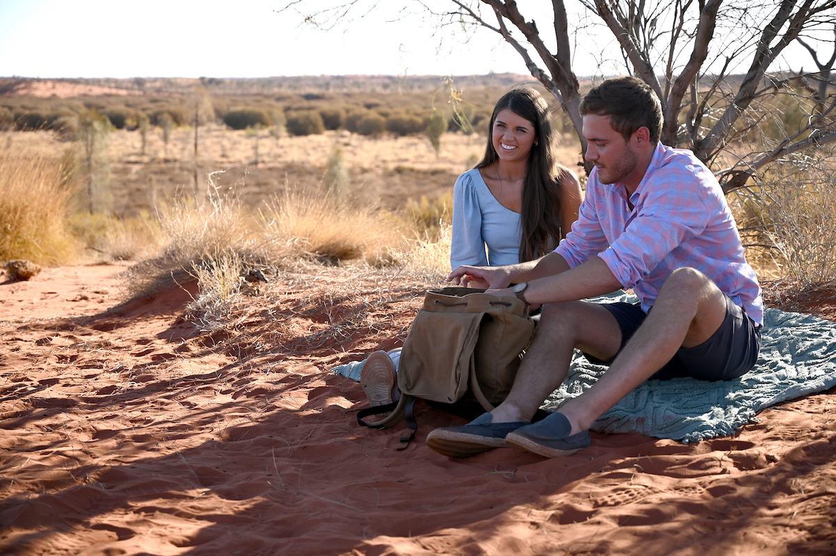 Madison Prewitt and Peter Weber on their final date in Australia in Part 1 of 'The Bachelor' Season Finale. She broke up with Weber on this date.