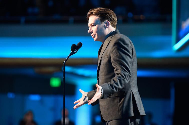 Mike Myers speaks onstage