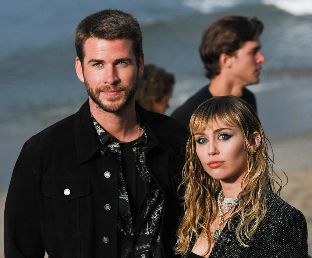 Liam Hemsworth and Miley Cyrus on June 06, 2019