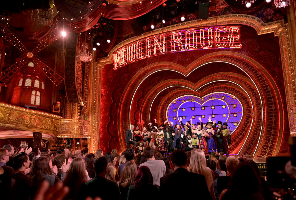 The cast of Broadway's 'Moulin Rouge!' performs live on 'Good Morning America' on February 18, 2020