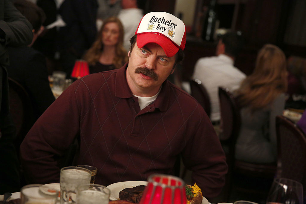 Ron Swanson at his bachelor party