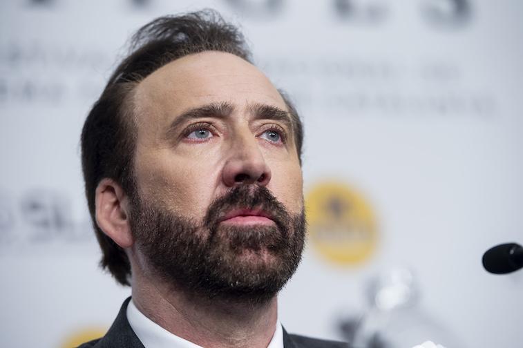 Nicolas Cage on the red carpet