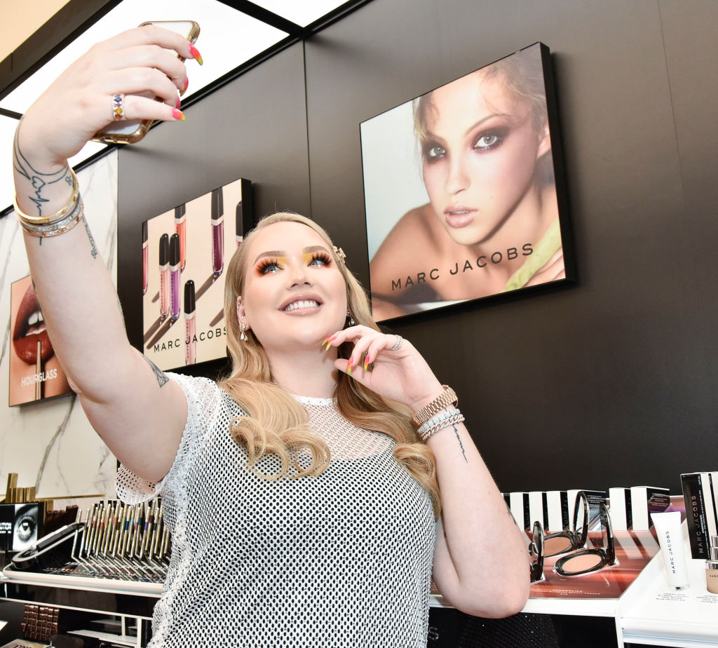 YouTuber NikkieTutorials — aka Nikkie de Jager — takes a selfie at a Sephora, Marc Jacobs event in Times Square.