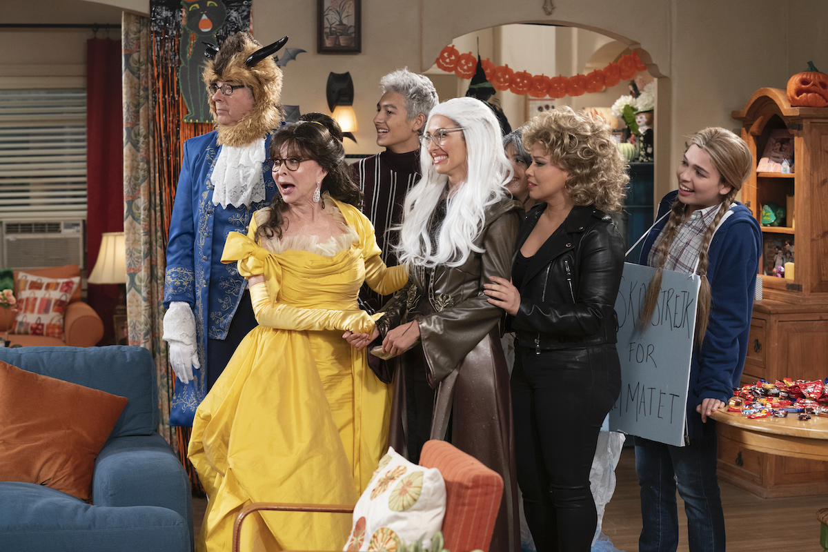 Dr. Berkowitz, Lydia, Alex, Avery, Syd, Penelope, and Elena in 'ONE DAY AT A TIME.'