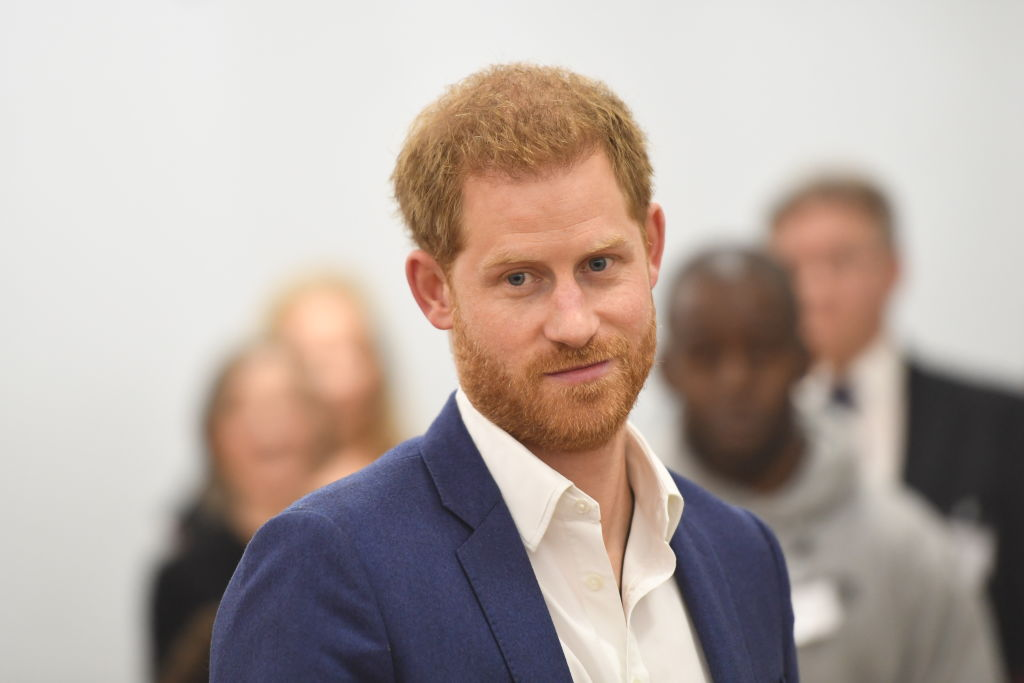 Prince Harry during a visit to the Community Recording Studio in St Ann's to mark World Mental Health Day on October 10, 2019