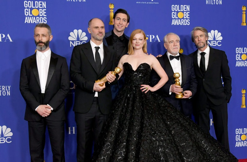 Cast of 'Succession' posed at 2020 Golden Globes