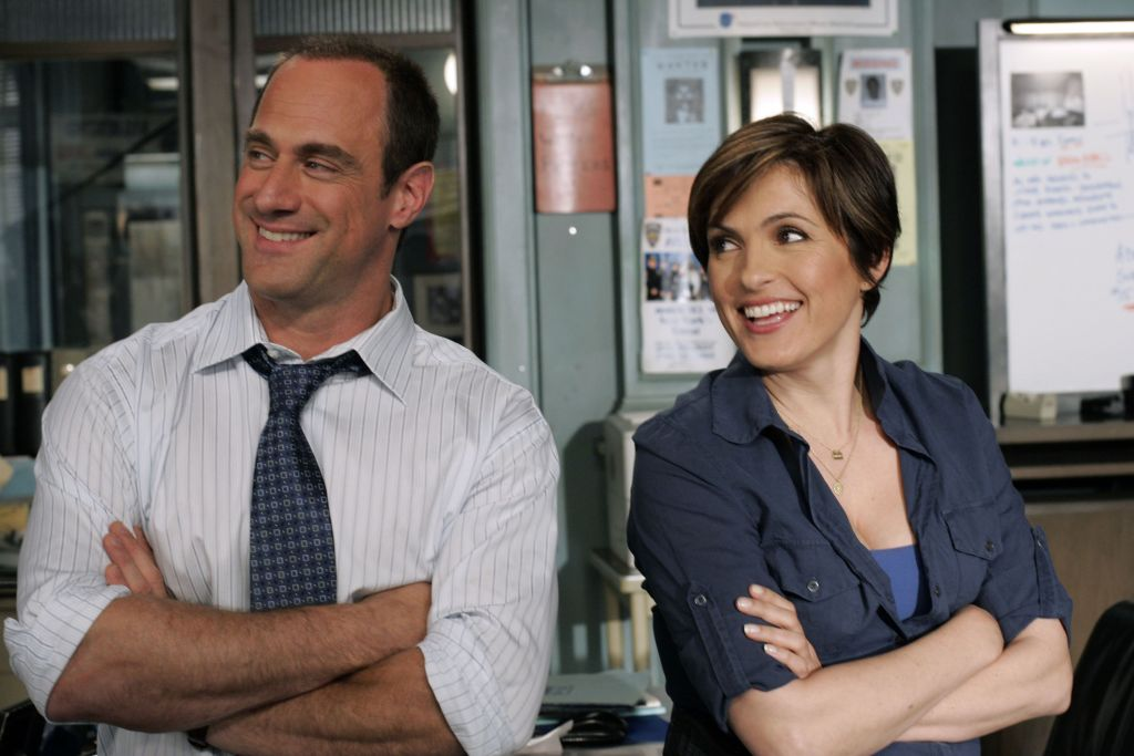 Benson and Stabler smiling
