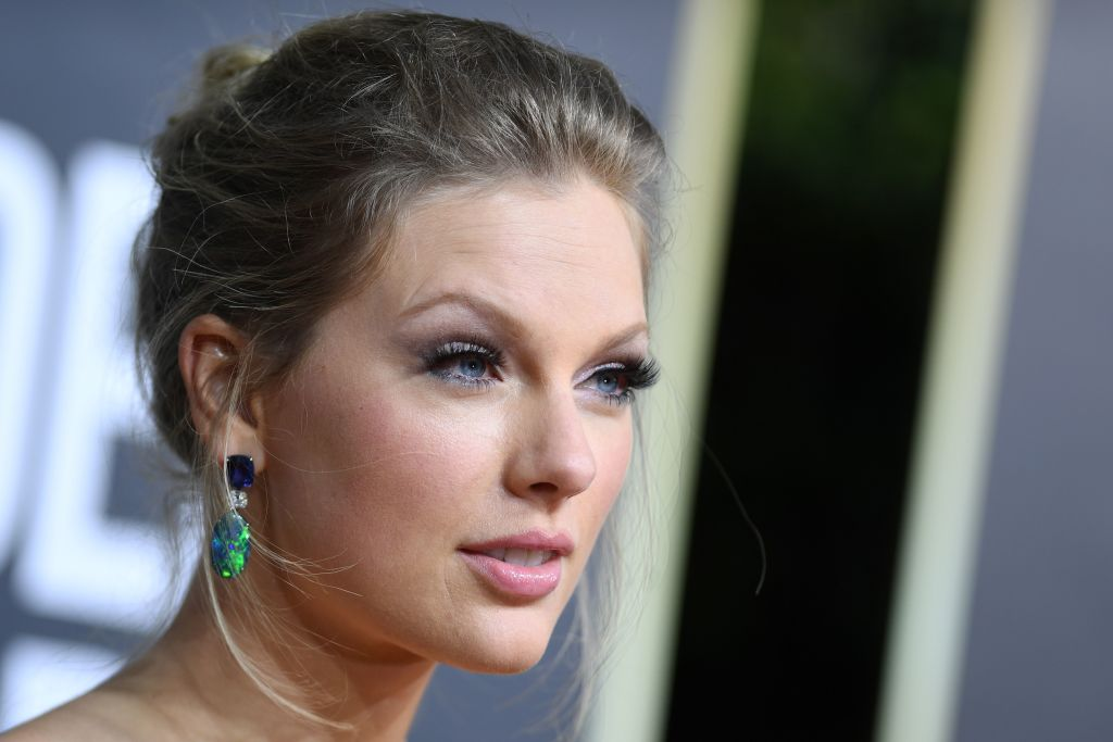 Taylor Swift arrives for the 77th annual Golden Globe Awards on January 5, 2020