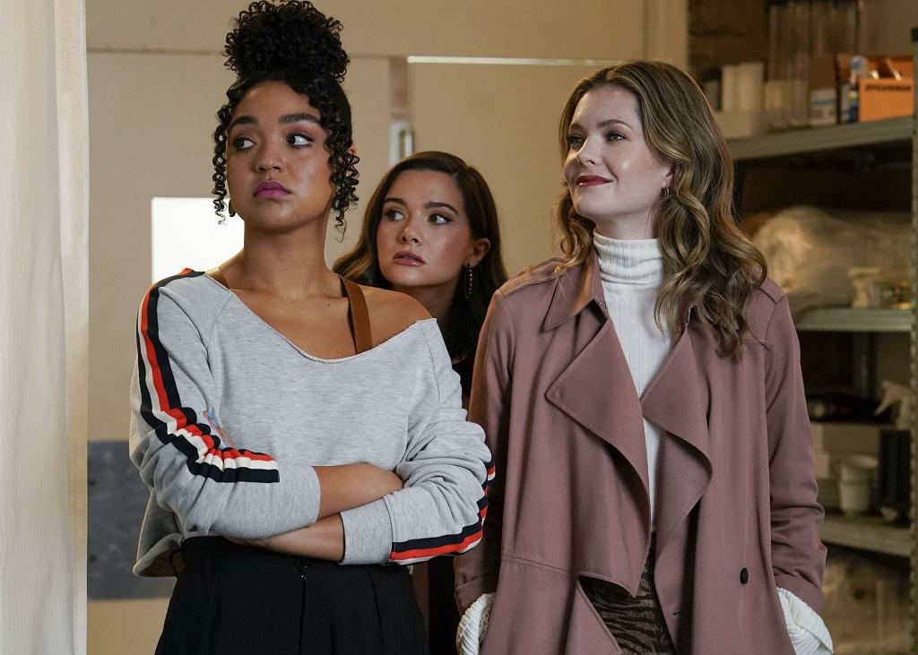Aisha Dee, Katie Stevens, and Meghann Fahy in 'The Bold Type'