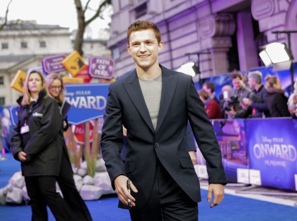 Tom Holland at the UK Premiere Of Disney And Pixar's 'Onward' at The Curzon Mayfair on February 23, 2020.