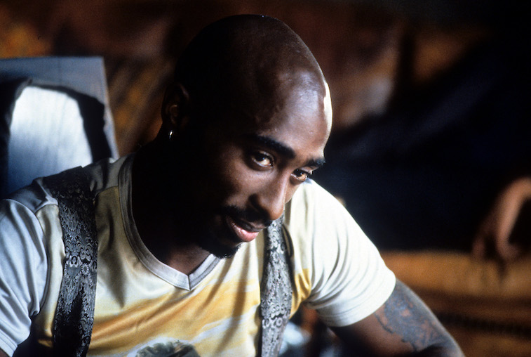 Tupac Shakur in a scene from the film 'Gridlock'd'