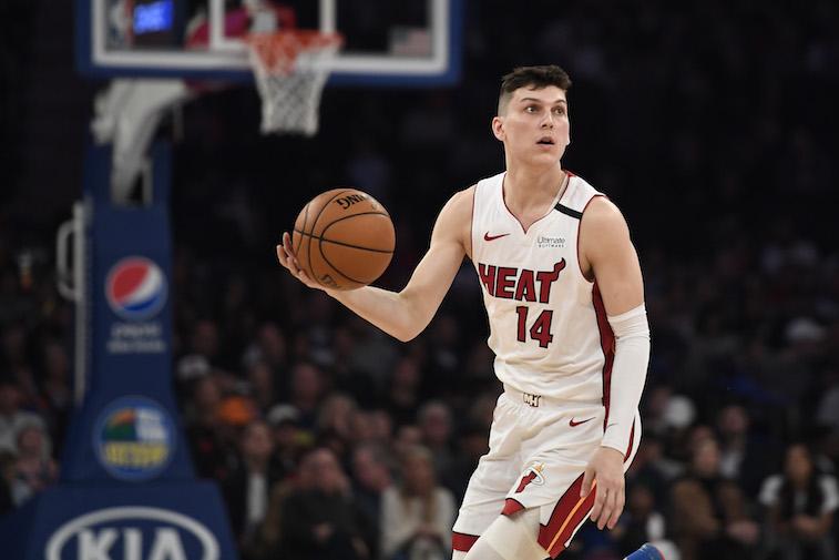 Tyler Herro playing basketball
