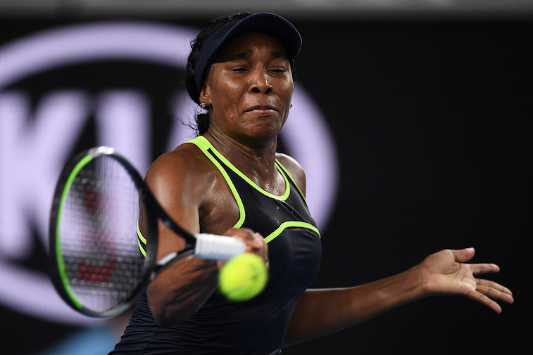 Venus Williams plays tennis
