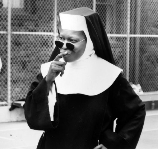 Whoopi Goldberg on the set of 'Sister Act,' 1992.