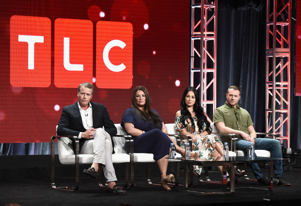 Matt Sharp of '90 Day Fiance' franchise, Molly Hopkins, Paola Mayfield and Russ Mayfield of '90 Day Fiance: Happily Ever After?' speak onstage