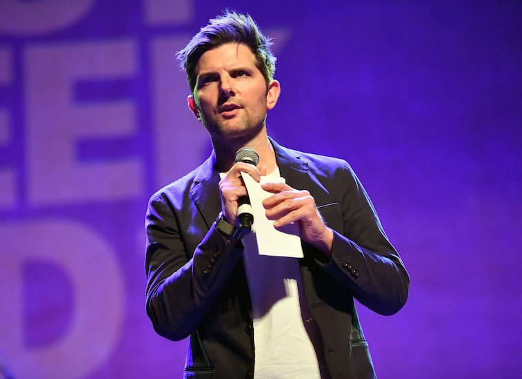 Adam Scott speaks onstage