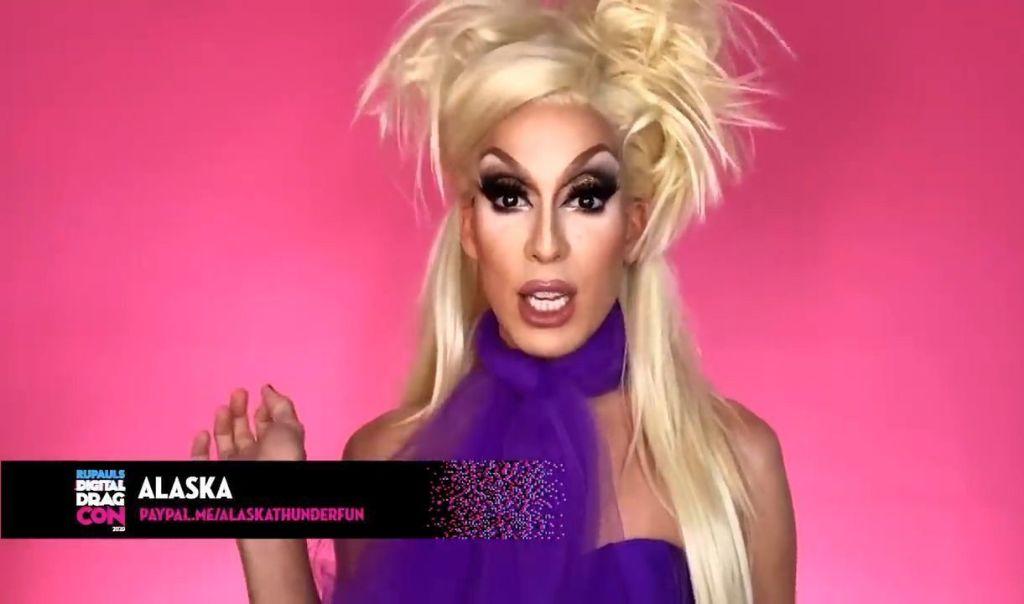 "Alaska speaks during ""RuPaul's Digital DragCon"""