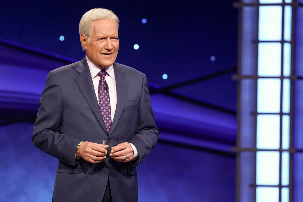 Alex Trebek on an episode of 'Jeopardy!'
