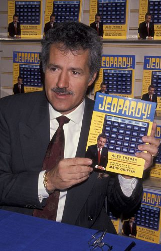 Alex Trebek attends a book launch party for 'Jeopardy!'