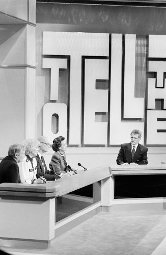 Alex Trebek on the game show ' To Tell The Truth'