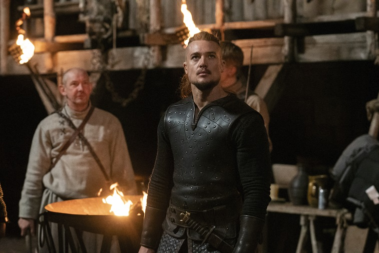 Alexander Dreymon and Ian Hart in 'The Last Kingdom'